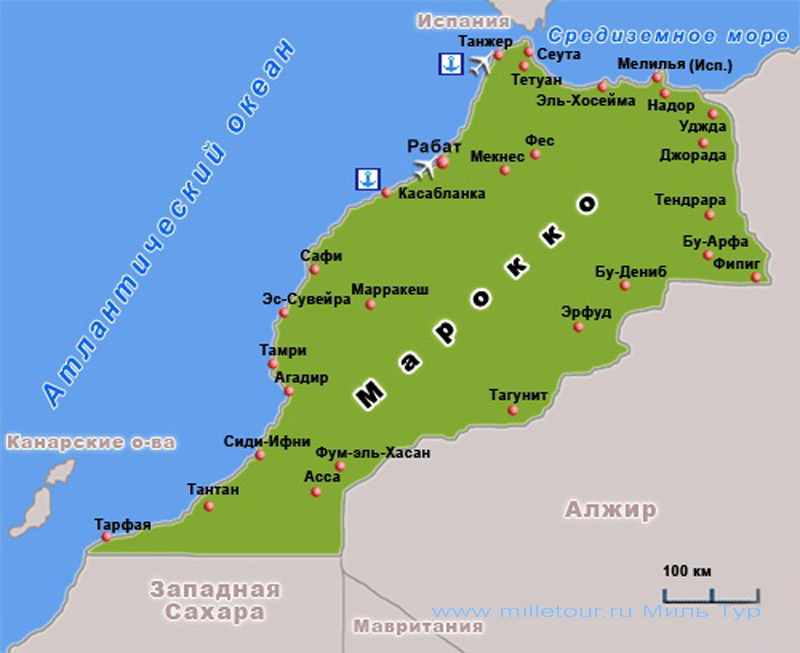 map of Morocco 3